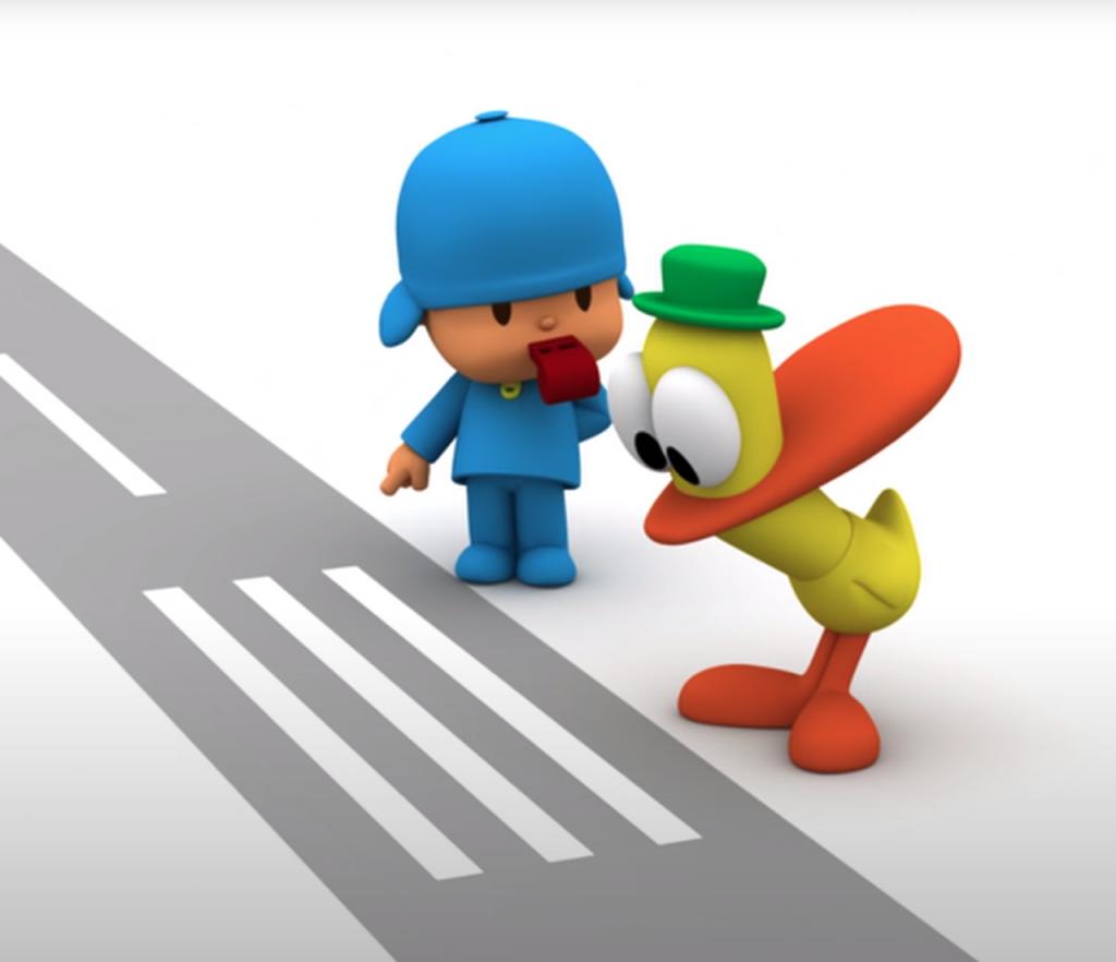 pocoyo educazione stradale
